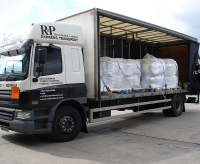 A hazardous load comprising toxic material