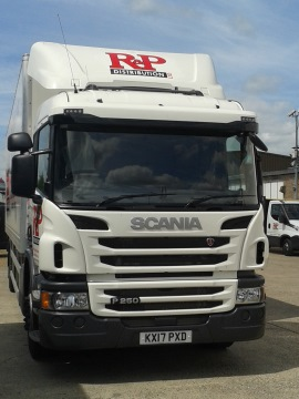 Our new 18T Scania Box Truck with tail lift